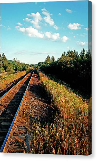 Rural Country Side Train Tracks Canvas Print
