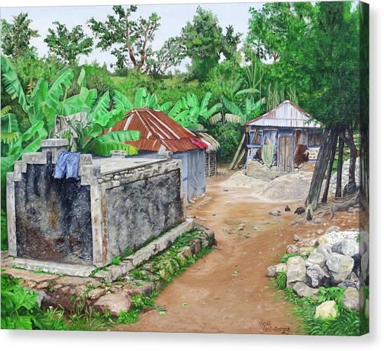 Rural Haiti - A Study In Poignancy Canvas Print