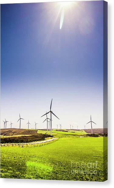 Wind Farms Canvas Print - Rural Power by Jorgo Photography - Wall Art Gallery