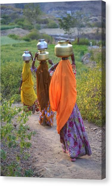 South Asia Canvas Print - rural Rajasthan by Joana Kruse