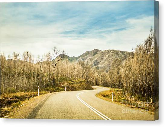Rural Canvas Print - Rural Road To Australian Mountains by Jorgo Photography - Wall Art Gallery