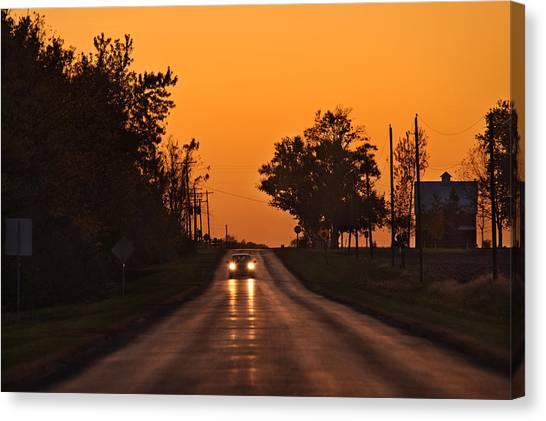Rural Canvas Print - Rural Road Trip by Steve Gadomski