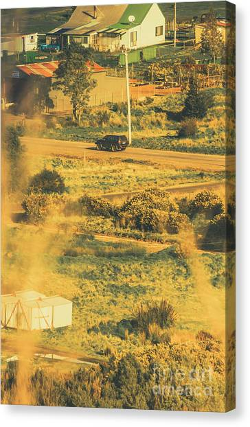 Jeep Canvas Print - Rural Tasmania Landscape At Summer by Jorgo Photography - Wall Art Gallery