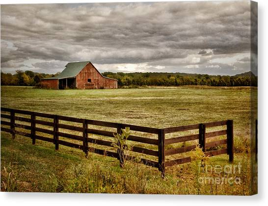 Rural Tennessee Red Barn Canvas Print