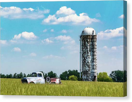Trucks Canvas Print - Rural by Tom Mc Nemar