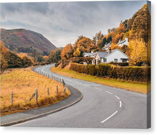 Rural Wales In Autumn Canvas Print