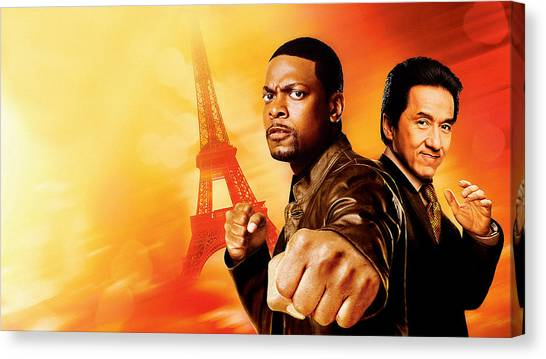 Microphones Canvas Print - Rush Hour 3 by Super Lovely