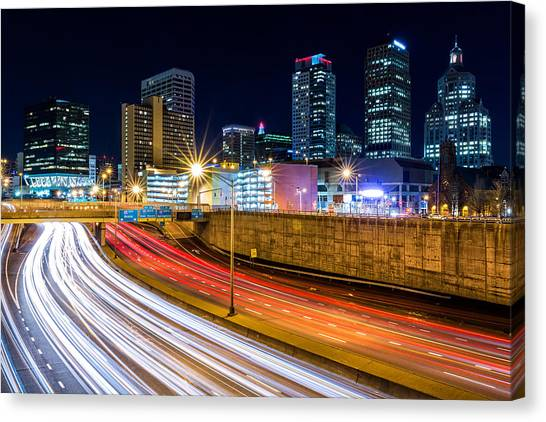 Rush Hour In Hartford, Ct Canvas Print