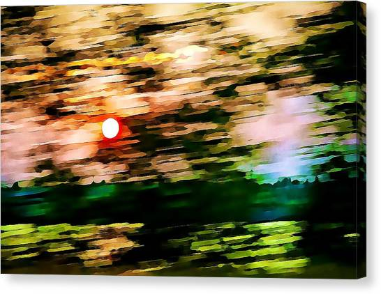Rush To Go Home Canvas Print