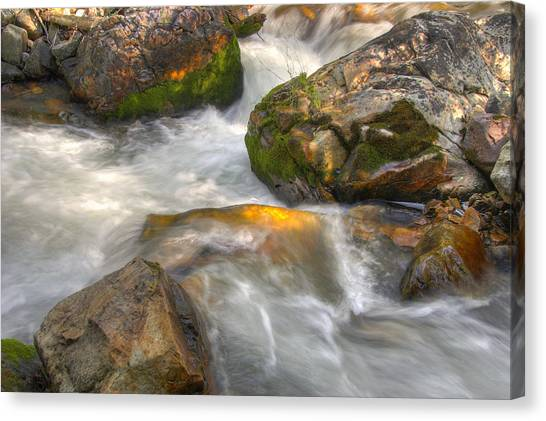 Rushing Water 1 Canvas Print by Douglas Pulsipher