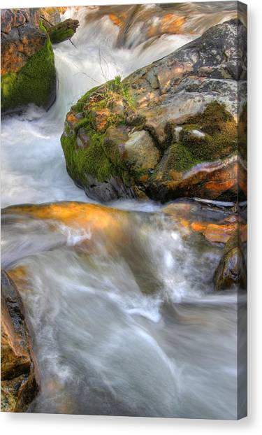 Rushing Water 2 Canvas Print by Douglas Pulsipher