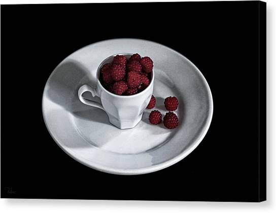 Ruspberries In The Cup - Livid Still-life Canvas Print