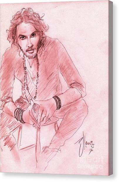 Russell Brand Canvas Print