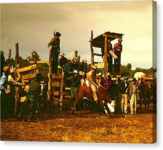 Russell Lee's Rodeo Canvas Print