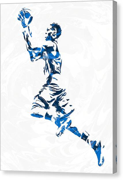 Russell Westbrook Canvas Print - Russell Westbrook Oklahoma City Thunder Pixel Art 10 by Joe Hamilton