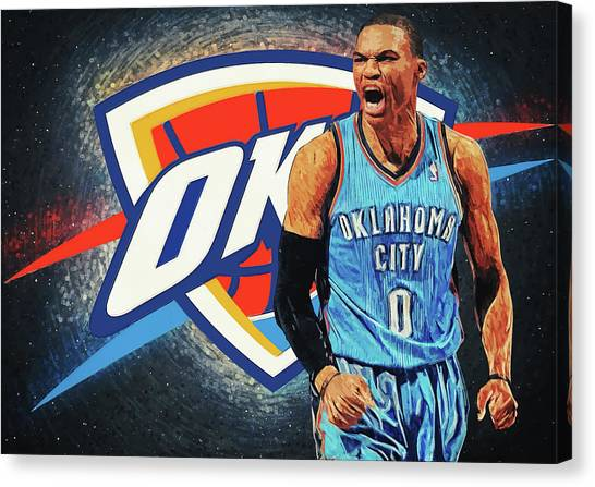 Russell Westbrook Canvas Print - Russell Westbrook by Zapista