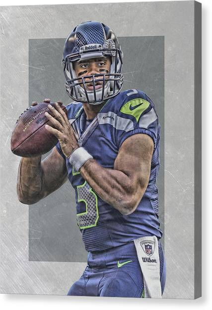 Seattle Seahawks Canvas Print - Russell Wilson Seattle Seahawks Art by Joe Hamilton