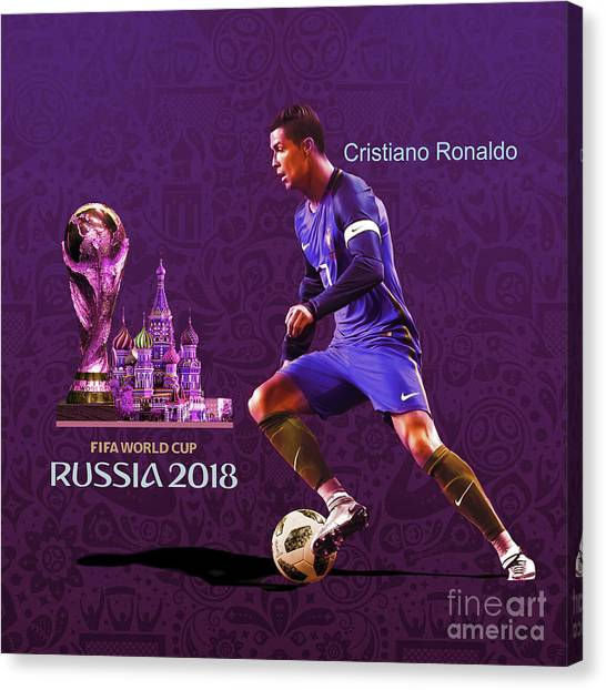 Lionel Messi Canvas Print - Russia 2018 Football World Cup  by Gull G