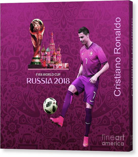 Lionel Messi Canvas Print - Russia 2018 World Cup  by Gull G
