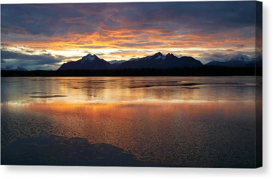 Sarah Palin Canvas Print - Lake Wasilla by James Michael Olson