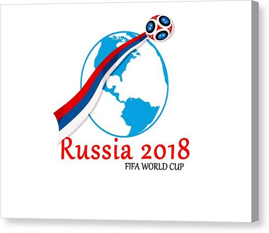 Fifa Canvas Print - Russia World Cup 2018 by Cesar Vieira