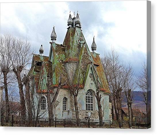 Russian Armenian Haunted House Canvas Print