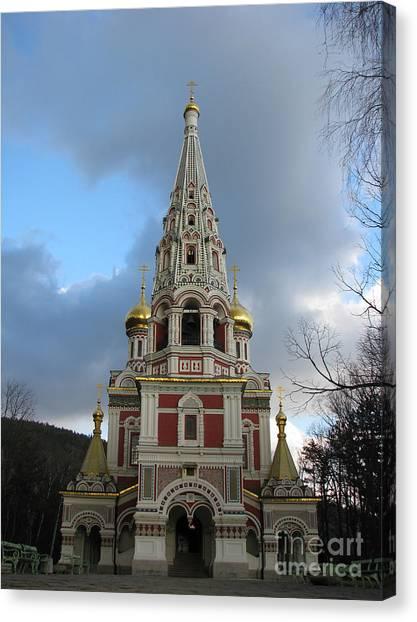 Russian Church At Shipka Canvas Print