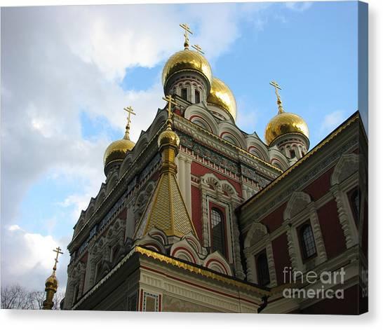 Russian Church Domes Canvas Print