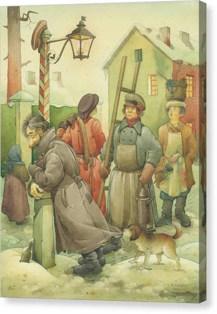 Russian Scene 06 Canvas Print by Kestutis Kasparavicius