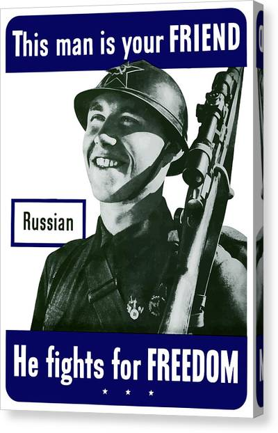 Russian Art Canvas Print - Russian - This Man Is Your Friend by War Is Hell Store