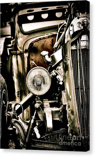 Street Rods Canvas Print - Rust And Power by Tim Gainey