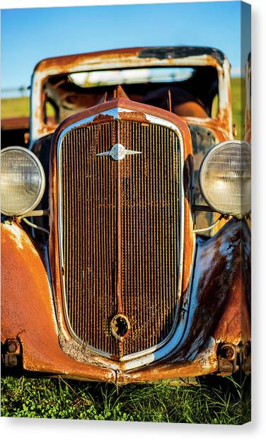 Rusted Chevrolet Canvas Print