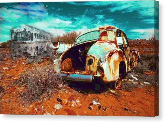Rusted Canvas Print by Leah Devora
