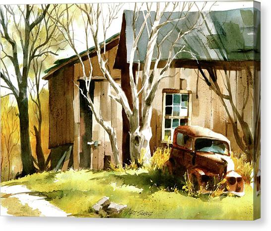 Rusted 'n Retired Canvas Print by Art Scholz