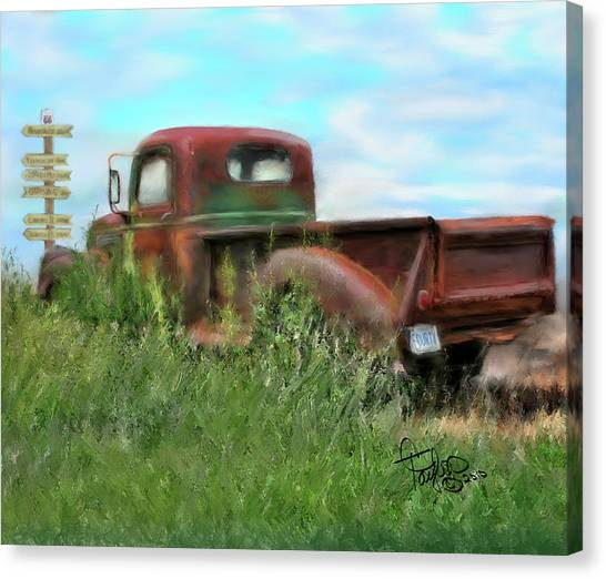 Rusted Not Retired Canvas Print