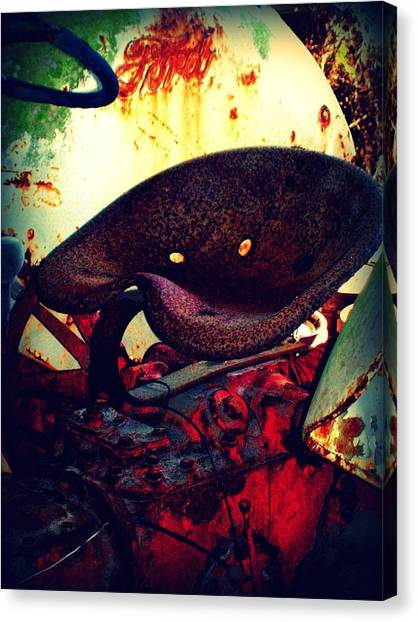 Rusted Seat Canvas Print by Dana Blalock