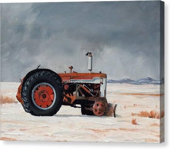 Rusted Sentinel Canvas Print by Greg Clibon
