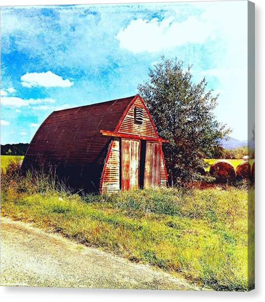 Watercolor Canvas Print - Rusted Shed, Lazy Afternoon by Steven Gordon