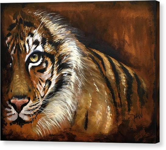 Rusted Tiger Canvas Print by Holly Whiting