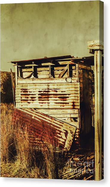 Dilapidated Canvas Print - Rustic Abandonment by Jorgo Photography - Wall Art Gallery