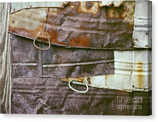 rustic abstract photograph - Sheet Metal Wall Canvas Print