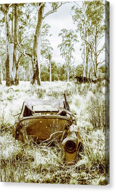Derelict Canvas Print - Rustic Australian Car Landscape by Jorgo Photography - Wall Art Gallery