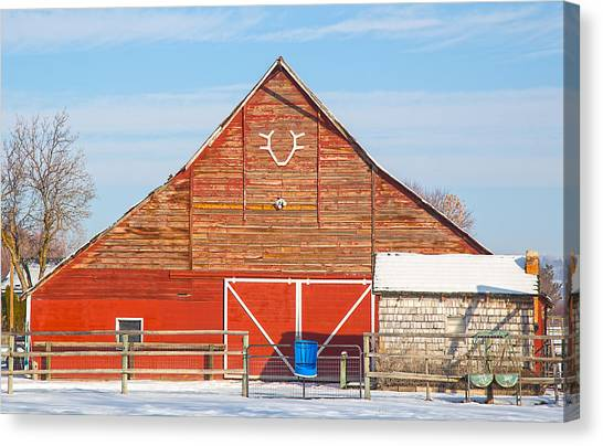 Rustic Barn In Idaho Canvas Print
