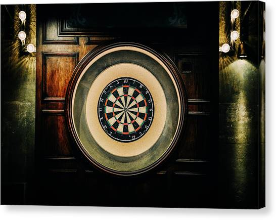 Rustic British Dartboard Canvas Print