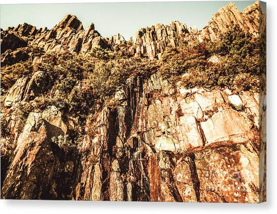 Barren Canvas Print - Rustic Cliff Spring by Jorgo Photography - Wall Art Gallery
