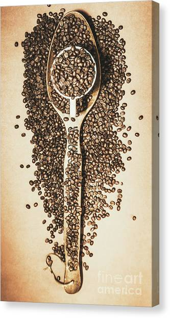Caffeine Canvas Print - Rustic Drinks Artwork by Jorgo Photography - Wall Art Gallery