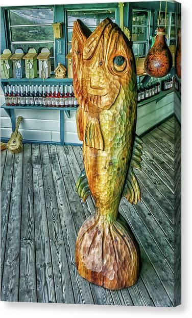 Rustic Fish Canvas Print