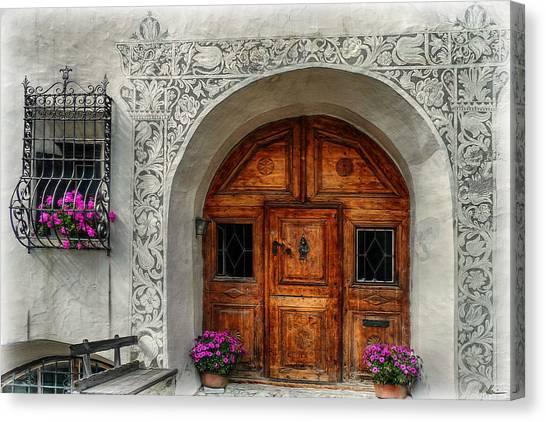 Rustic Front Door Canvas Print
