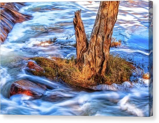 Rustic Island, Noble Falls Canvas Print