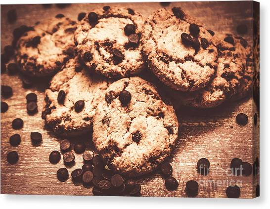 Biscuits Canvas Print - Rustic Kitchen Cookie Art by Jorgo Photography - Wall Art Gallery